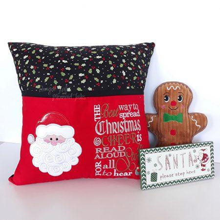 santa claus christmas reading cushion