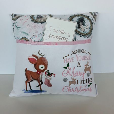 reindeer merry christmas reading cushion