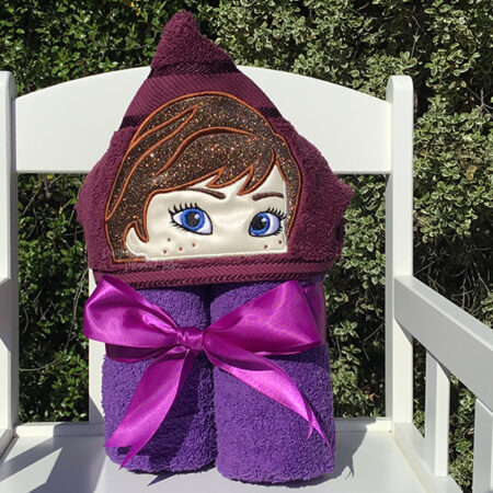 anna frozen snow sister hooded towel