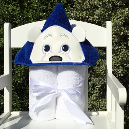 polar bear hooded towel