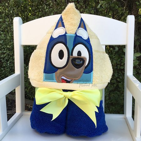bluey blue heeler dog hooded towel