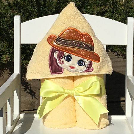 carmen sandiego lol doll hooded towel yellow