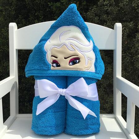 elsa frozen snow queen hooded towel