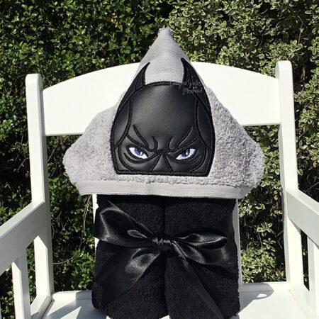 batman grey hooded towel