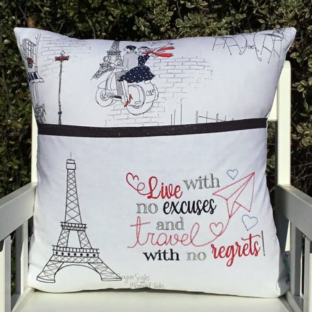 no excuses no regrets travel reading cushion