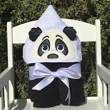 panda hooded towel baby shower