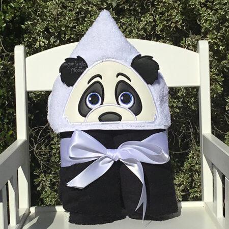 panda hooded towel baby shower