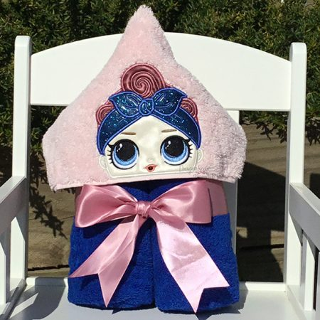 rosie riveter lol doll hooded towel