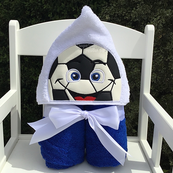 soccer ball hooded towel