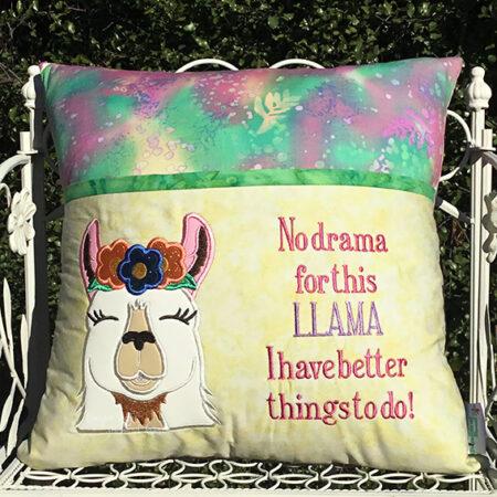 Llama reading cushion