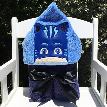 Blue PJ Masks hooded towel