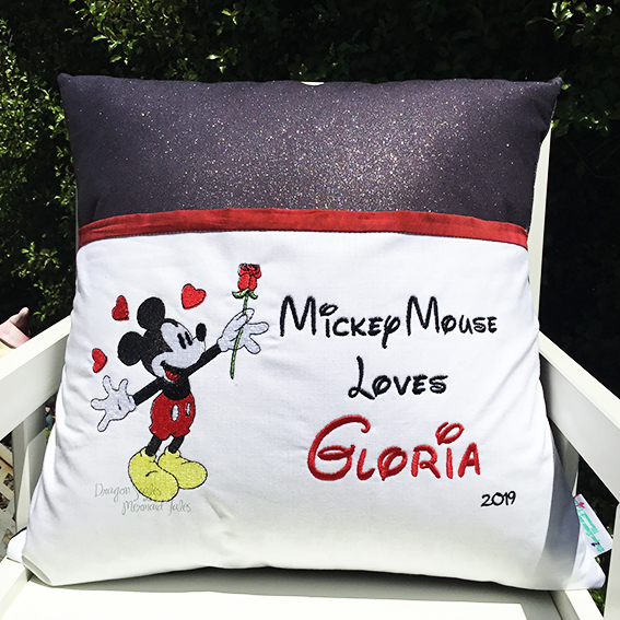 mickey mouse reading cushion pocket pillow