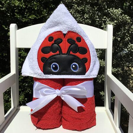 ladybug ladybird hooded towel