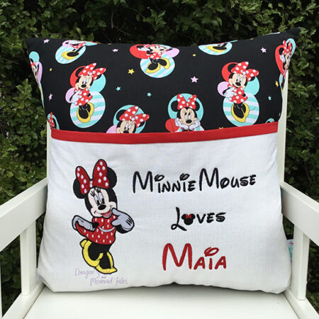 minnie mouse reading cushion pocket pillow