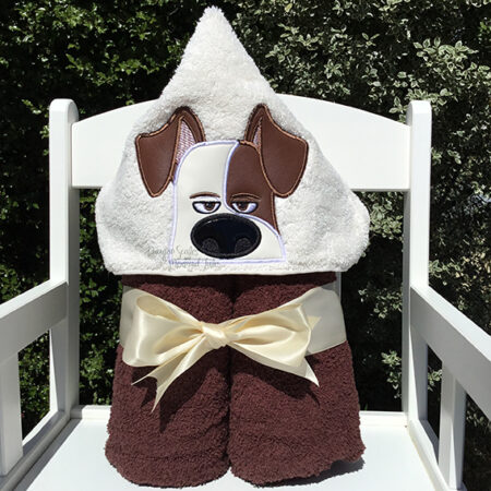 max dog secret life of pets hooded towel