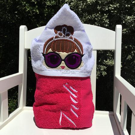 audrey hepburn lol doll hooded towel