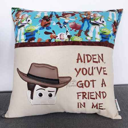 Woody toy story reading cushion pocket pillow