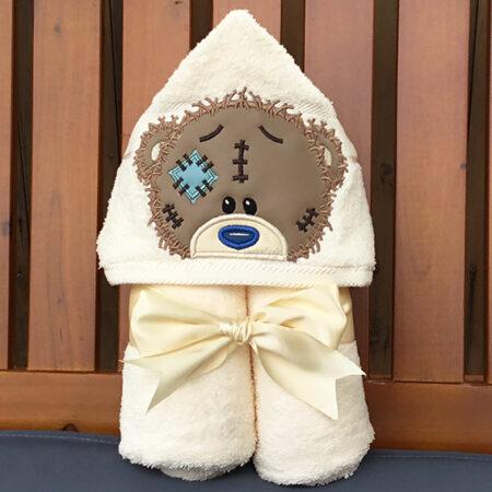 raggy raggedy teddy bear hooded towel