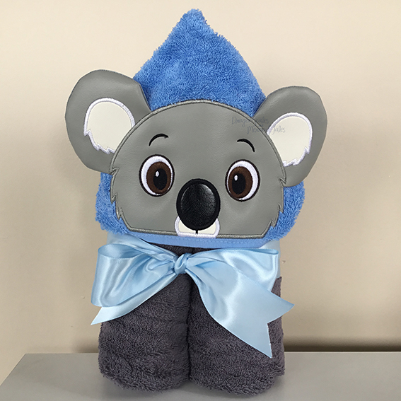 boy koala blinky bill hooded towel