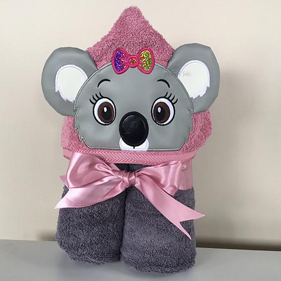 girl koala blinky bill nutsy hooded towel