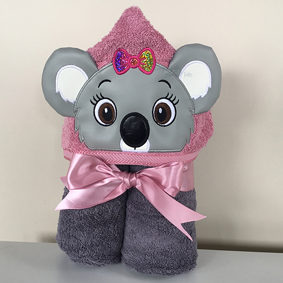 girl koala blinky bill nutsy hooded towel