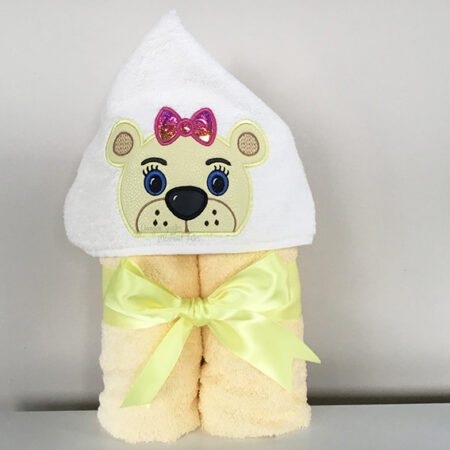 lion lioness girl hooded towel