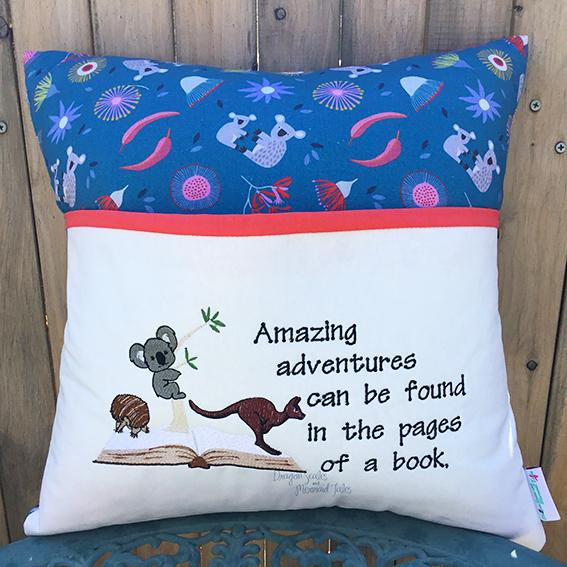 Koala echidna kangaroo Australiana Australia straya reading cushion pocket pillow