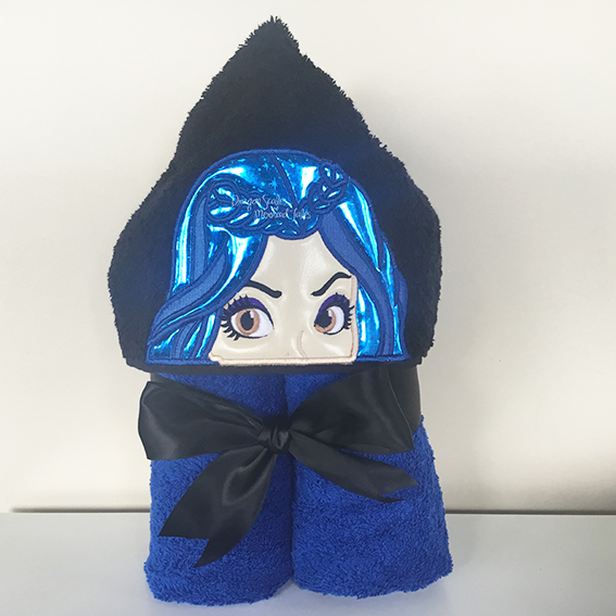 evie descendants blue hooded towel