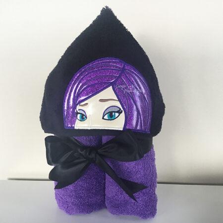 mal descendants purple hooded towel