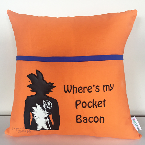 Goku dragonballz dragonball z dragon ball z pocket bacon reading cushion
