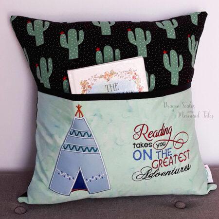 cactus american indian teepee adventure reading cushion pocket pillow