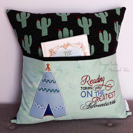cactus american indian teepee adventure reading cushion pocket pillow