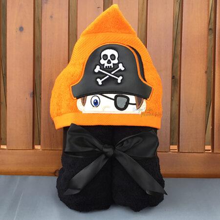 pirate boy hooded towel