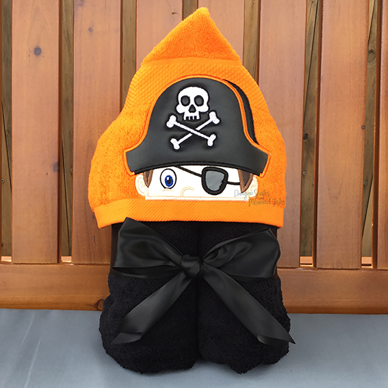 pirate boy hooded towel