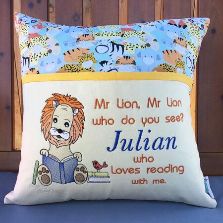 mr lion Julian Reading cushion pocket pillow