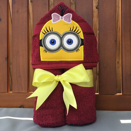 despicable me marigold minion hooded towel