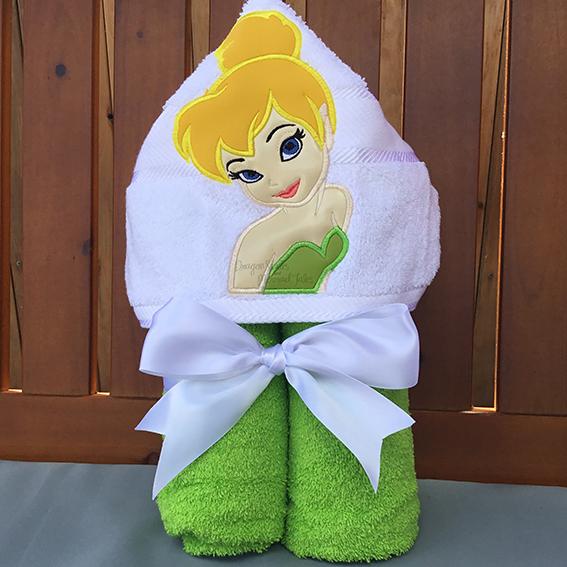 Tinkerbell peter pan fairy hooded towel