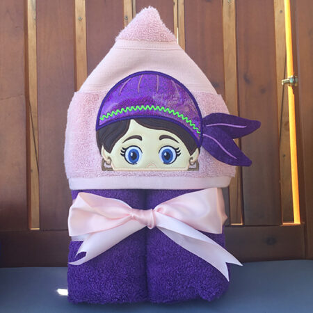 Pirate girl hooded towel