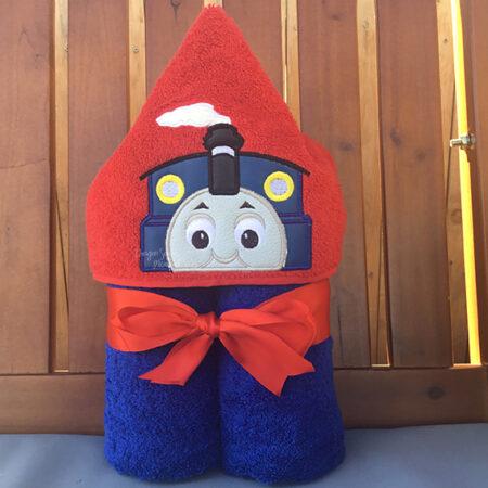 thomas the tank engine train hooded towel