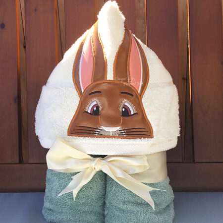 bunny peter rabbit easter hooded towel