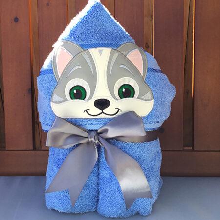 Cute Kitten Puppy Hooded Towel