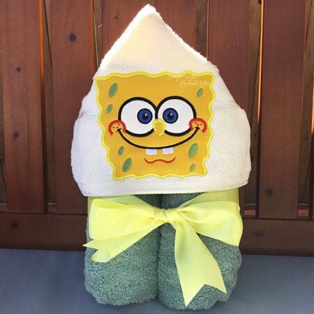 spongebob sponge bob square pants squarepants hooded towel