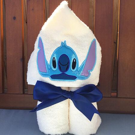 Hawaiian Blue Alien Hooded Towel