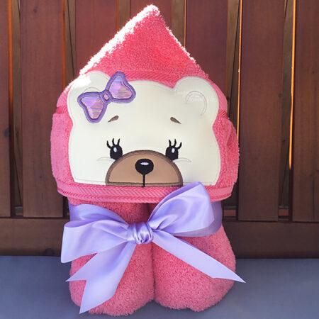 Teddy Bear Hooded towel