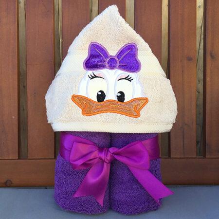 Daisy duck disney hooded towel