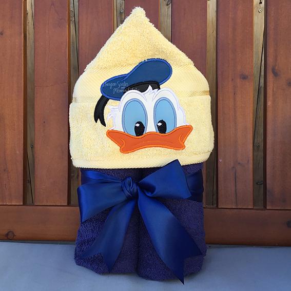 donald duck disney hooded towel