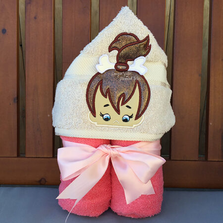 pebbles flintstone hooded towel