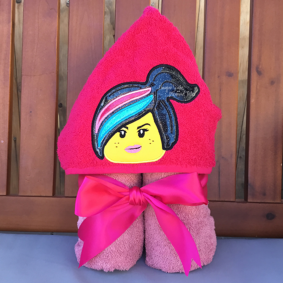 wildstyle lego lucy movie girl hooded towel