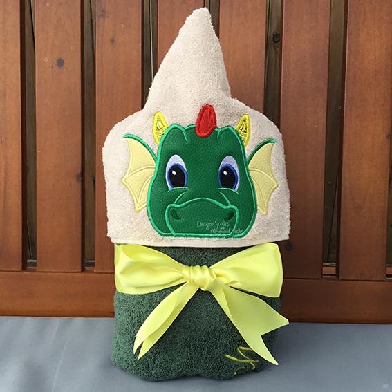 knights dragon cute hooded towel