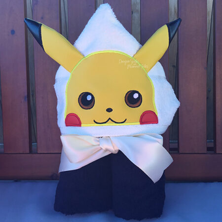 Pikachu Pokemon Hooded Towel